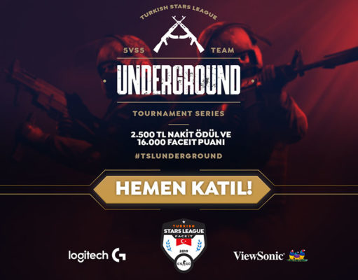 Turkish Stars League 5v5 CS:GO Turnuvası TSL Underground Başlıyor